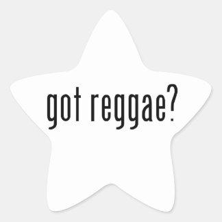 reggae obtida? adesivo em forma de estrela