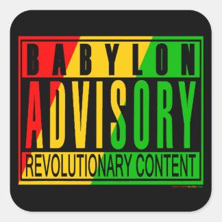 Reggae RASTA Adesivo Quadrado