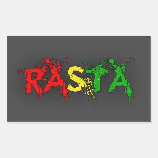 Reggae Rasta Adesivo Retangular