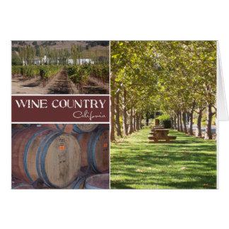 Região vinícola, Califórnia Cartão