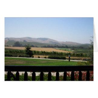 Região vinícola cartão