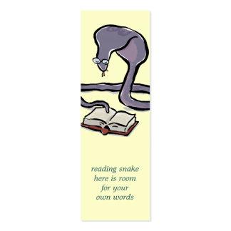 registre o marcador da cobra da leitura com suas cartão de visita skinny
