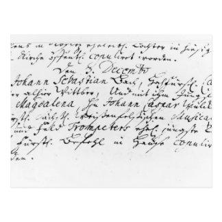 Registro do casamento de Bach a Anna Cartão Postal