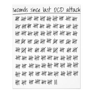 Registro obsessionante da desordem OCD Flyer 11.43 X 14.22cm
