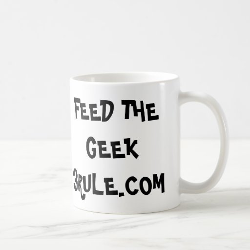 Regra da alimentação 3 a caneca do geek