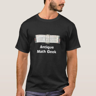 Regra de corrediça antiga do vintage camiseta
