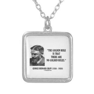 Regra de ouro de G.B. Shaw nenhumas citações das Colar Com Pendente Quadrado