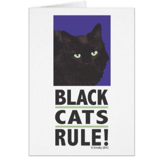 REGRA dos gatos pretos! Cartão vazio