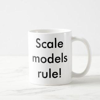 Regra dos modelos escala! caneca de café