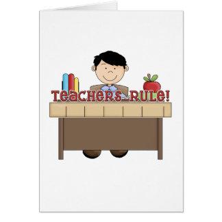 Regra dos professores - camiseta e presentes mascu cartões