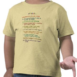 Regras da criança t-shirts