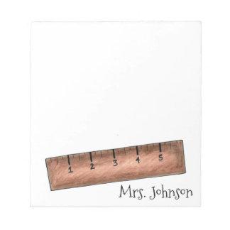 Régua de madeira bloco de notas personalizado do