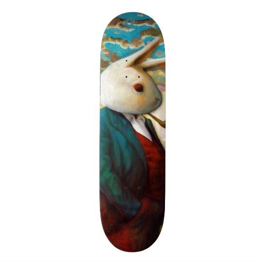 Rei branco Costume Pro Slider Embarque da rua do Shape De Skate 18,4cm