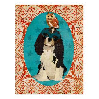 Rei Cavalier do mascarada & cartão da coruja Cartão Postal