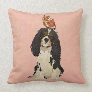 Rei Cavalier & travesseiro da coruja Almofada