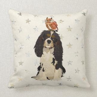 Rei Cavalier & travesseiro de Mojo da coruja Almofada