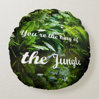 Rei da selva almofada redonda
