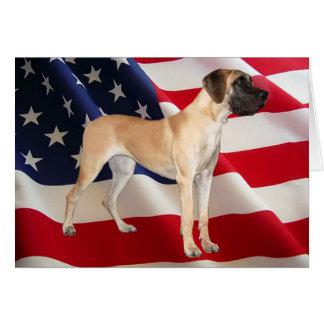Rei de great dane do cartão dos cães