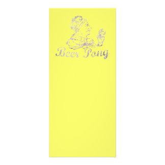 Rei de Pong da cerveja do vintage 10.16 X 22.86cm Panfleto