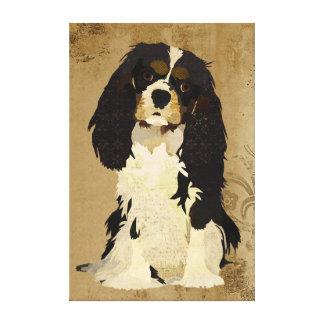 Rei descuidado floral Charles Canvas do vintage Impressão De Canvas Esticada