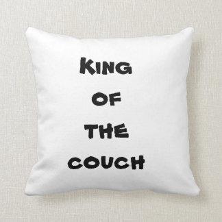 Rei do coxim do sofá almofada