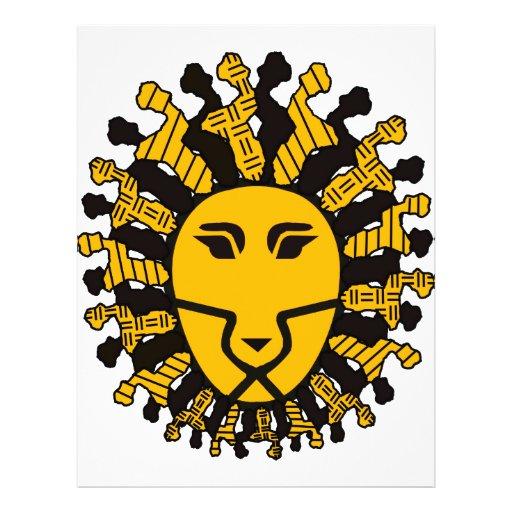 Rei do leão de Malawi Panfletos Coloridos