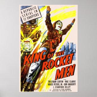 Rei do poster dos homens de Rocket
