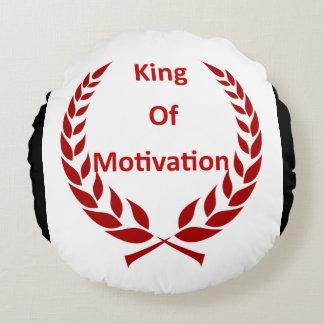 Rei do travesseiro da motivação almofada redonda