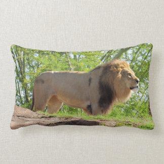 Rei do travesseiro lombar da selva (leão) almofada lombar