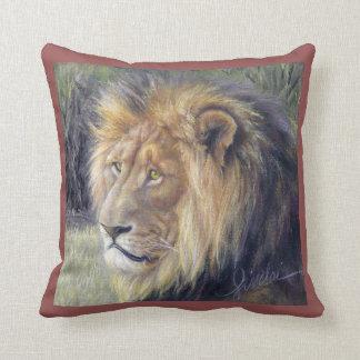 """Rei e rainha do leão 16"""" x 16"""" travesseiro almofada"""