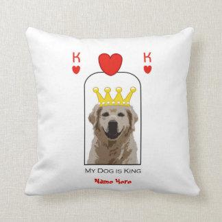 Rei feito sob encomenda Coração Descansar do cão Almofada