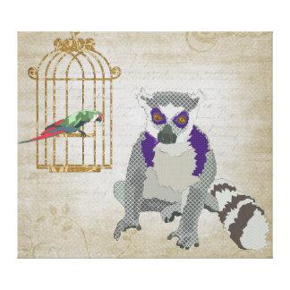 Rei Jullian arte das canvas do Macaw de Molly Impressão De Canvas Envolvidas