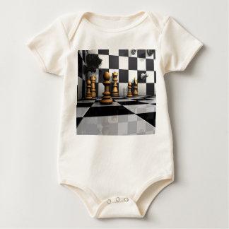 Rei Xadrez Jogo Macacãozinho Para Bebê