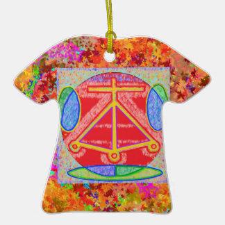 Reiki Karuna Ommantra: LAREIRA 2 Ornamento De Cerâmica Camiseta