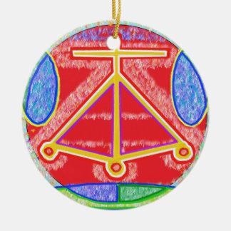 Reiki Karuna Ommantra: LAREIRA Ornamento De Cerâmica Redondo