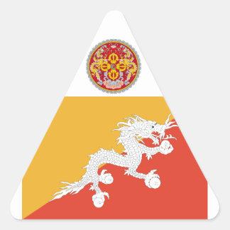 Reino da bandeira de Bhutan, fogo do dragão Adesivo Triangular