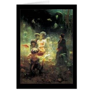 Reino subaquático 1876 cartão comemorativo