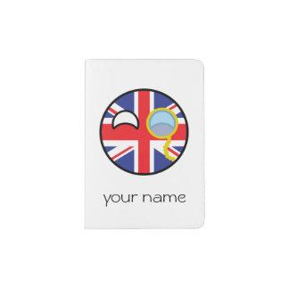 Reino Unido Geeky de tensão engraçado Countryball Capa Para Passaporte