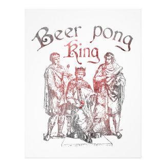 Reis de Pong da cerveja Panfleto Coloridos