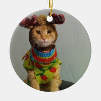 Relação & Natal de Chester Ornamento De Cerâmica Redondo