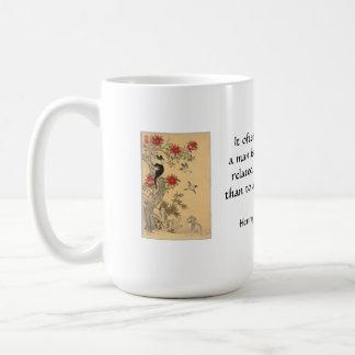 Relativo mais humanamente a um cão ou a um gato caneca de café
