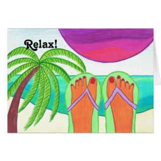 Relaxe! Aprecie suas férias! cartão