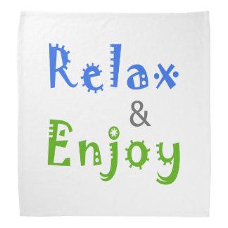 Relaxe e aprecie bandanas