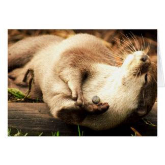 Relaxe e aprecie! cartão comemorativo