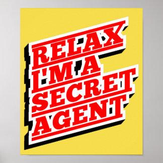 Relaxe-me são um agente secreto engraçado póster