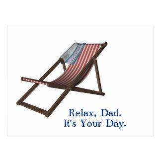 Relaxe, pai. É seu dia Cartoes Postais