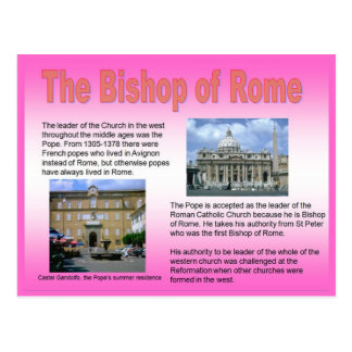 Religião, católico romano, Bishop de Roma Cartao Postal