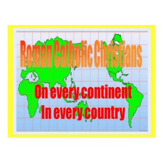 Religião, católicos romanos em cada país cartão postal