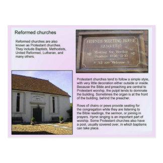 Religião, cristandade, Chiurches reformado Cartoes Postais
