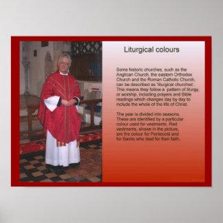 Religião, cristandade, cores litúrgicas pôsteres